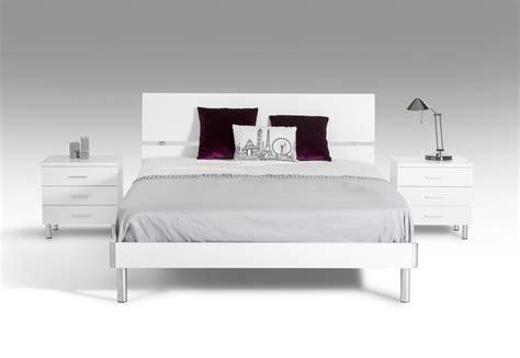 modern white bed modrest bravo modern white bed