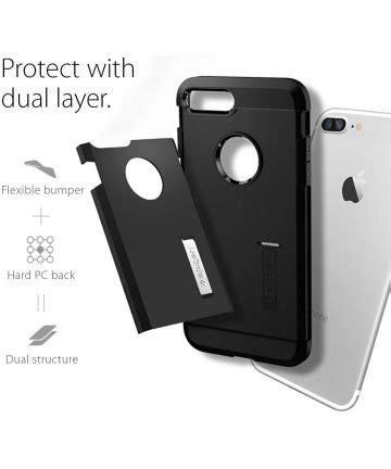 Spigen Slim Armor Gunmetal For Iphone 7 Plus spigen slim armor apple iphone 7 plus 8 plus hoesje