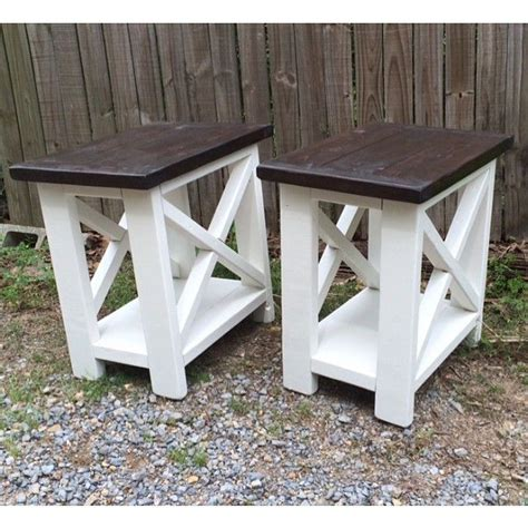 diy wood end table best 25 rustic end tables ideas on wood end