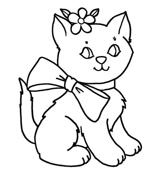 Picture Of A Cat To Color by Cat Coloring Page Cat Free Printable Coloring Pages