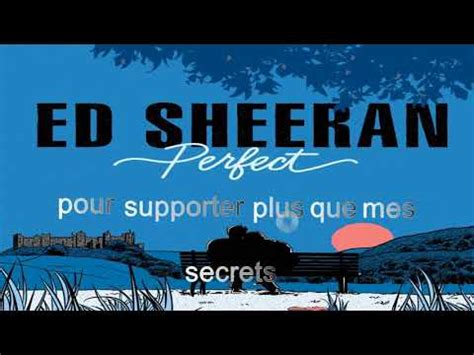 ed sheeran perfect in french ed sheeran perfect karaoke in french quot parfait quot youtube