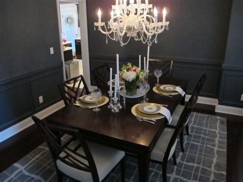 dark blue dining room dark blue dining room transitional dining room