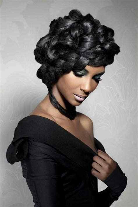 natural hair pinup hairdos pin curls natural hair pinterest