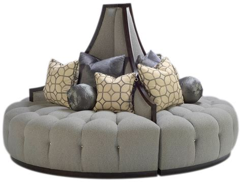 sectional sofa with round chaise elegant dove grey round sofa