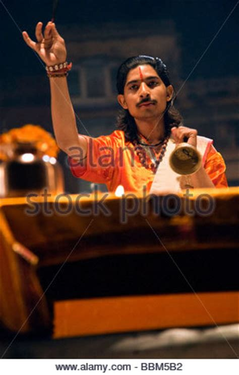 Wedding Bells Varanasi Uttar Pradesh by Indian Priest Performing Puja Agni Pooja At