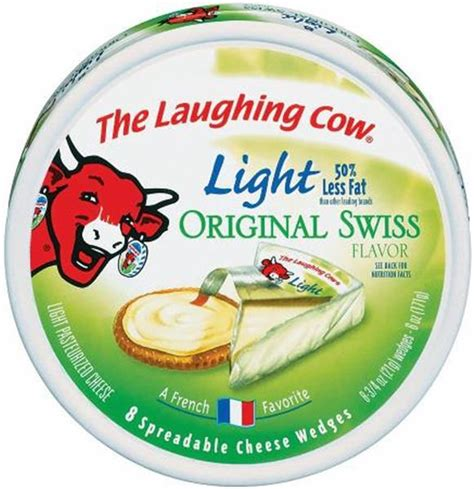 laughing cow light cheese the laughing cow light swiss cheese wedges 8 count