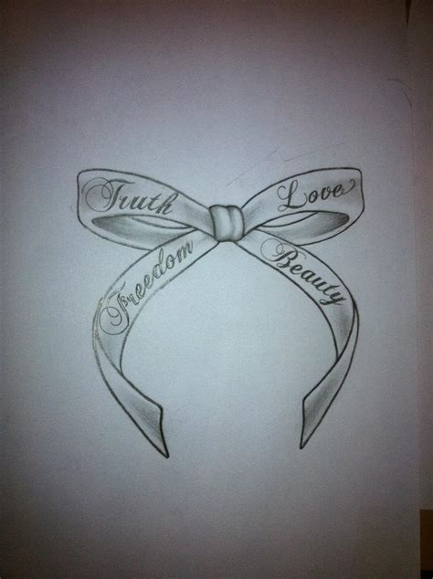 the truth tattoos bow images designs