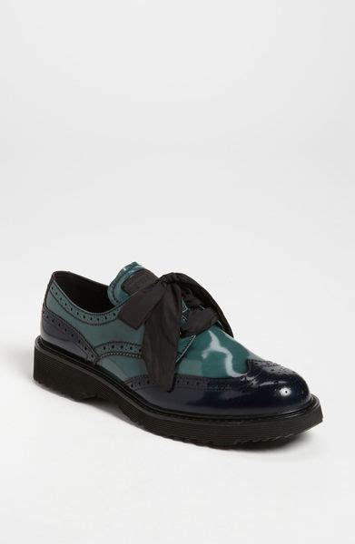 prada oxford shoes prada linea rossa prada oxford in green green blue