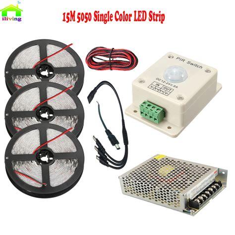 Led Warm White 2 Meter Dengan Sensor Gerak 5m 10m 15m 5050 smd led diode tiras with pir infrared motion sensor detector light