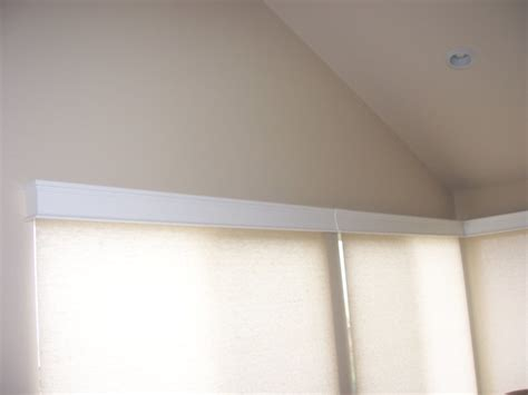 White Cornice Box Motorized Roller Shades With Wood Cornice Boxes Modern