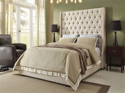 tall headboard bed black tufted bed ideas laluz nyc home design