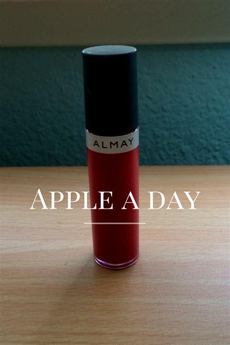 Liquid Lip Care swatches almay color care liquid lip balm apple a day