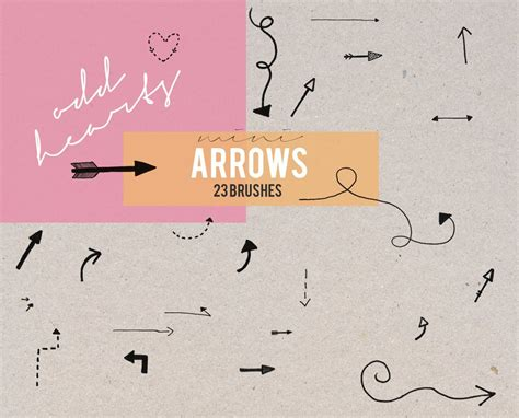 arrow pattern brush photoshop mini arrows brushes shape photoshop brushes