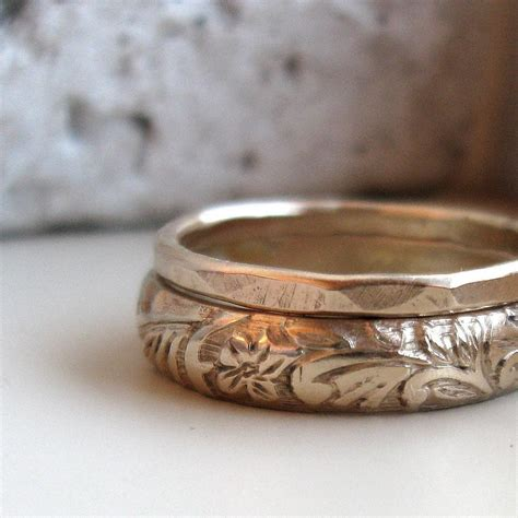 Handcrafted Engagement Rings - gold stacking rings