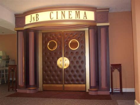 The Entrance Of A Cinema Hotel Or Theatre Home Theater Doors And Marquee Could Be Really And