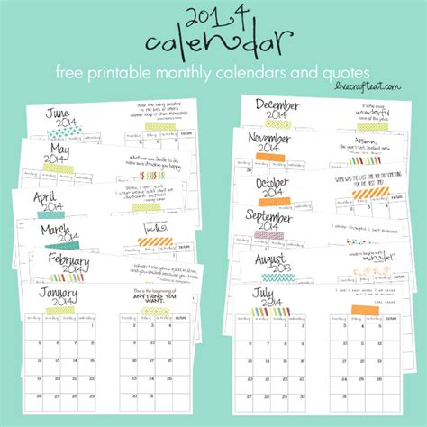 free printable monthly planner 2014 printable 2014 monthly calendars calendar template 2016