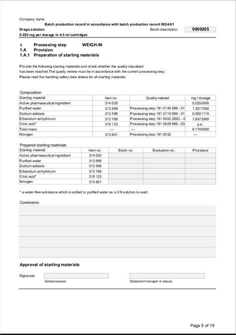 надлежащая производственная практика Batch Record Review Checklist Template