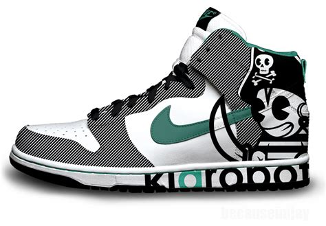 kidrobot pirate nike dunks shoes nike sb dunk skate shoes
