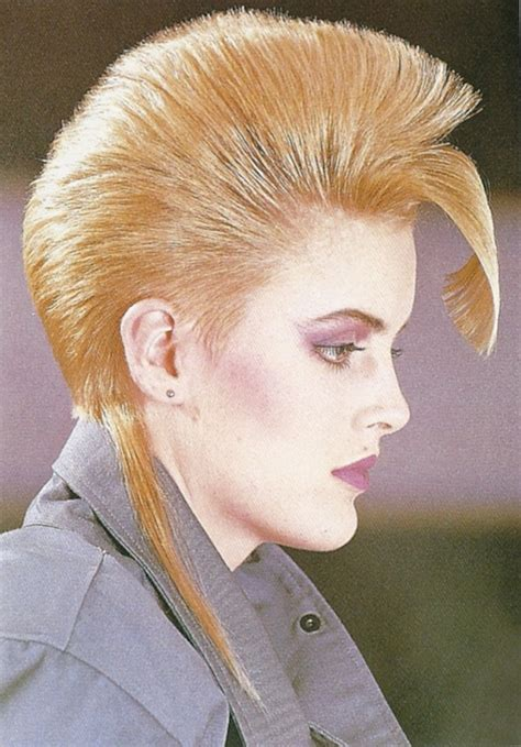 can women with a mahawk hair xut put weave in hair structured mohawk effect with a rat tail 1980s hair