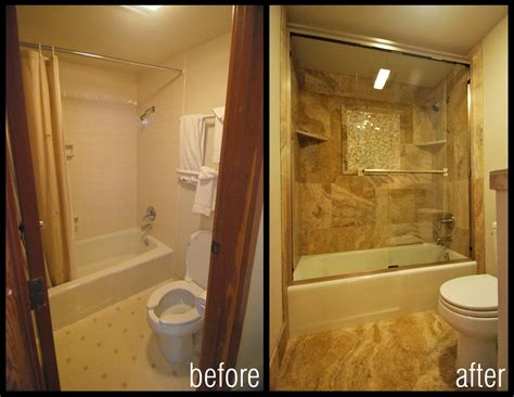 how to remodel a small bathroom before and after before and after images of bathroom shower remodels