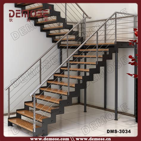 Metal Stairs Design Customized Wood Tread Stainless Steel Stair Stringers Steel Staircase Structural Design Buy