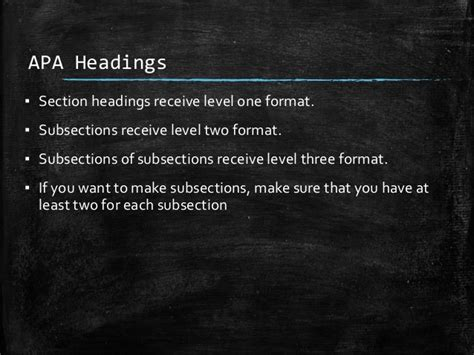 Apa Paper Section Headings