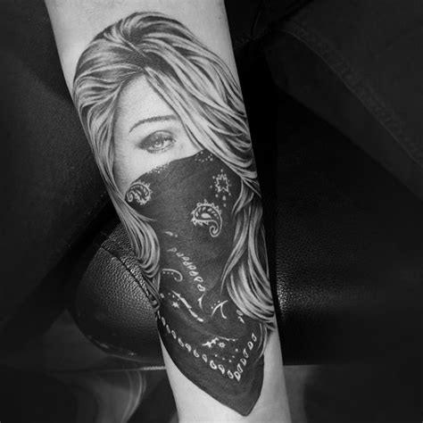 gangster girl tattoo 8 best images on ideas