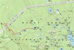 map of oregon lakes cascade ramblings cascader sheep lake olallie scenic area