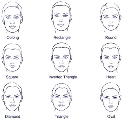 hair for diffrent head shapes face shapes for hairstyles