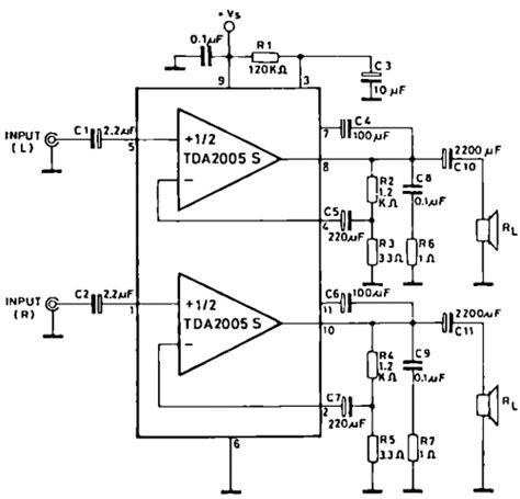 An17823a Btl 4w Mono Power Lifier power audio lifier schematics with tda2005