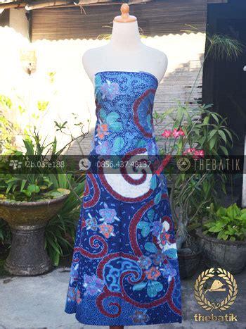 Blouse Atasan Baju Seragam Batik Wanita 1580 Daun Big Size bahan baju batik kontemporer biru merah floral thebatik
