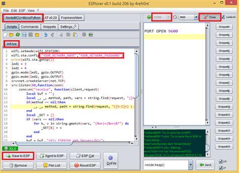tutorial web server esp8266 web server tutorial code and schematics random