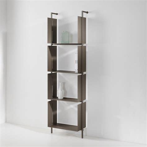 libreria verticale libreria verticale libra19 in acciaio color rame 48 x 163 cm