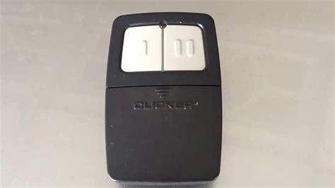 easy programming chamberline klik1u clicker transmitter