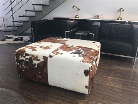 cowhide ottoman coffee table etsy ottoman cowhide ottoman cowhide furniture be sofia