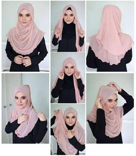 Kreasi Jilbab Segi Empat Simple Kreasi Jilbab Segi Empat Desain Simple Elegan Modis Dan
