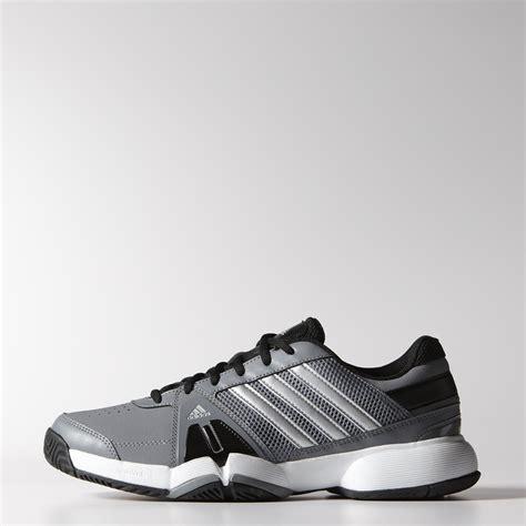 adidas mens barricade team 3 tennis shoes grey black