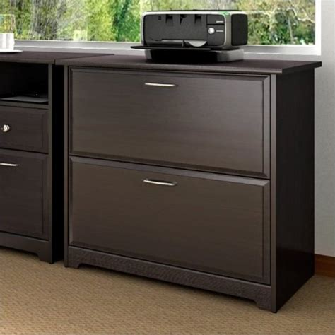 Horizontal File Cabinet Bush Cabot Lateral File Espresso Oak Filing Cabinet Ebay