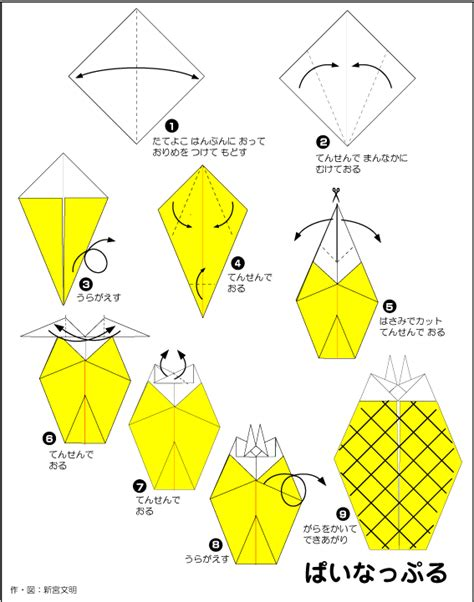 How To Make A Pineapple Out Of Paper - extremegami how to make a origami pineapple