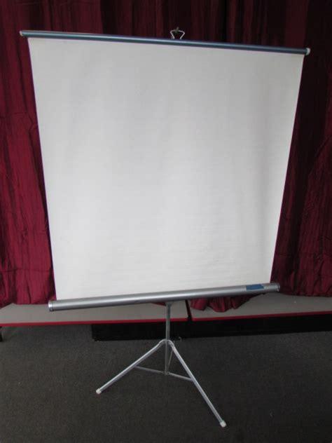 Screen Projector Tripod Lg 70inc lot detail vintage radiant projector screen