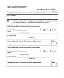 Deposit Receipt Template Word Sample Security Deposit Receipt 8 Free Documents