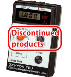 Kyoritsu 3001b Digital Insulation Tester model 3001b digital insulation continuity testers products kyoritsu