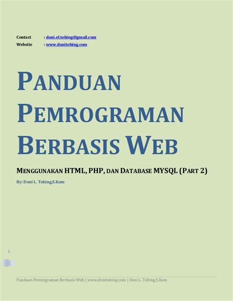 membuat aplikasi web dengan php dan database mysql tutorial membuat aplikasi berbasis web dengan php mysql