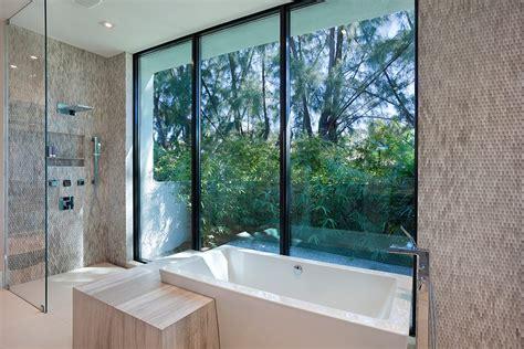 mid century modern master bathroom compound marc michaels interior design