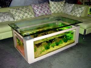 Best Aquarium Coffee Tables ? Mixture combining fish tank and table