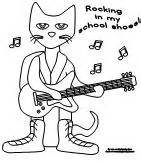 pete the cat coloring page pete the cat rocking in my school shoes printables
