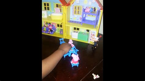 peppa pig doll house videos playing with peppa pig doll house youtube