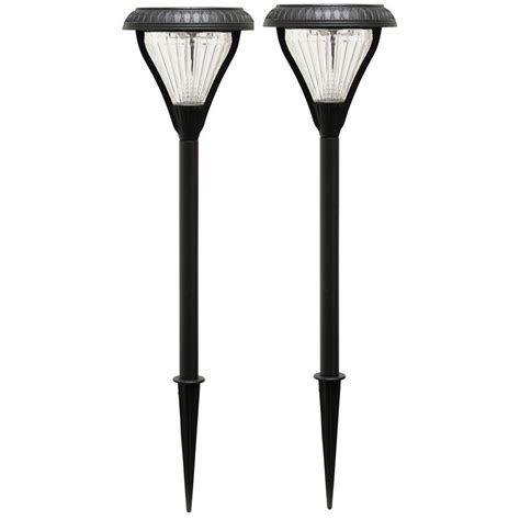 garden stake lights gama sonic premier solar powered black led garden stake
