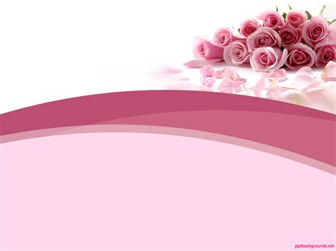 template ppt pink free free pink rose abstract beauty backgrounds for powerpoint