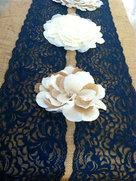 navy blue table runner navy blue lace table runner weddings this is nice lace